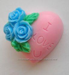 Мыло ручной работы Сердце I Love You 2