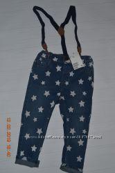 Нові джинси з підтяжками H&M розм. 2-3 р. 98 в наявності
