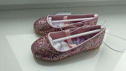 Нові туфлі в блискітки H&M роз. us8/ eur 25