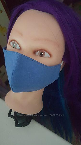 Детские маски многоразовые двухслойные не медицинские, 100 хлопок