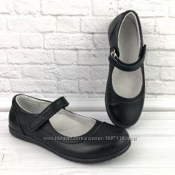 Школьные кожаные туфли для девочки Eleven shoes в школу новые подростковые