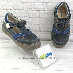 Кожаные туфли кроссовки для мальчика D. D. Step новые Степ открытые