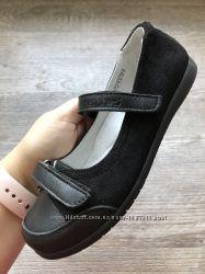 Новые кожаные туфли для девочки супинатор кож стелька шуз шкіряні мешти нов