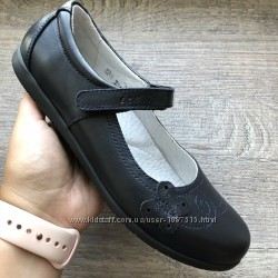 Новые кожаные туфли в школу для девочки елевен шуз супинатор ортопед