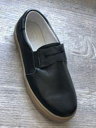 НОВЫЕ полностью кожаные туфли ТМ Елевен шуз в школу мальчику