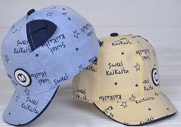 Тонкая кепка с ушками для мальчика Sweet ОГ 46-48 на 1-2 года