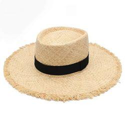 Соломенная шляпка, летняя шляпа канотье с широкими полями пляжная