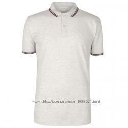 Рубашка поло футболка Firetrap Lazer Polo Shirt Ash Marl Оригинал