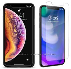 Защитное противоударное стекло iPhone X XS XS MAX XR в упаковке