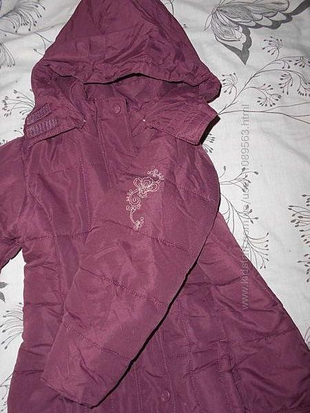 Зима Кунда пальто на 116см 4-5 лет еврозима идеальное состояние