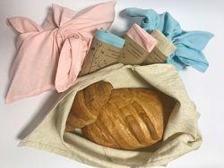 Экомешок для хлеба, еко торбинка из льна