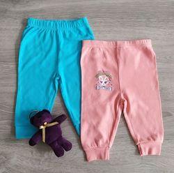 Штаны ползунки для новорожденных Голубые Кошечка Польша