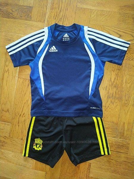 Adidas комплект костюм для спорта на футбол физкультуру спортивный шорты фу
