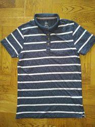 House футболка поло тенниска в полоску футболка-поло тениска мелланж
