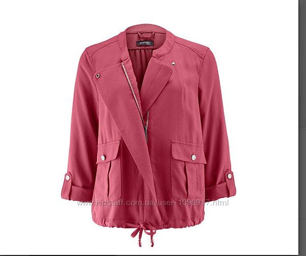 Куртка-ветровка ягодного цвета в стиле casual от TchiboГермания 38р46р