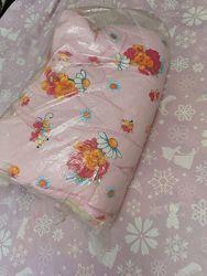 Тёплое детское одеяло на овчине 110 на 148.