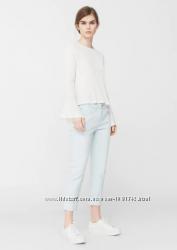 Голубые укороченные джинсы relaxed star mango бойфренд