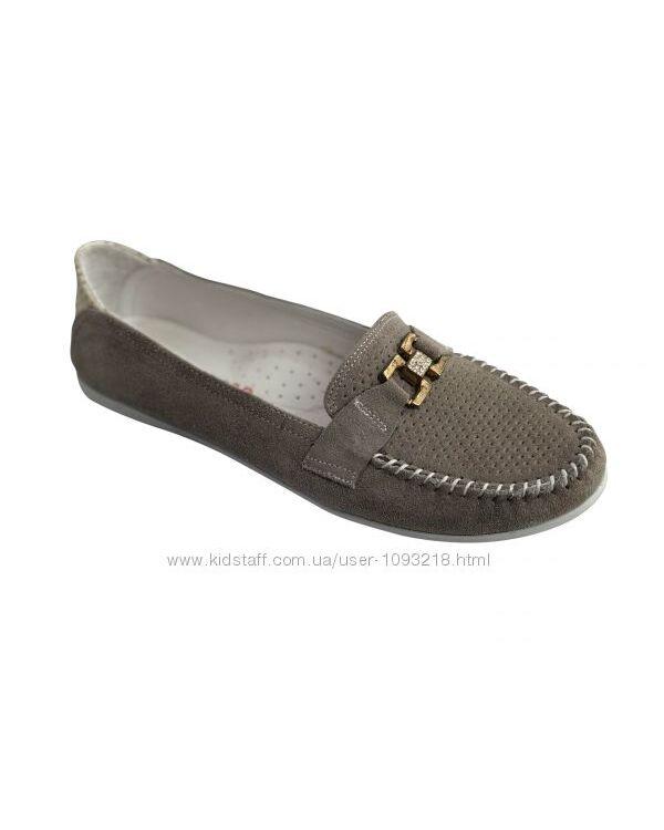Кожаные мокасины туфли SubbyGRAY р. 31, 36 Серый