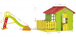 Детская площадка горка и домик