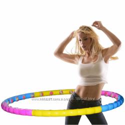 Хула-хуп обруч массажный с шариками из неопрена MS 0088