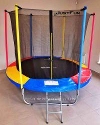 Батут Just Fun 305 см с внутренней сеткой и лестницей