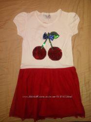 Платье Breeze с вишнями р-р 116