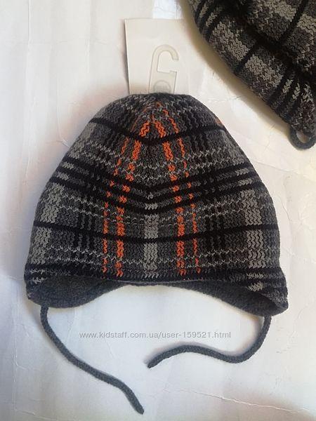 Зимняя шапочка для мальчика рост 80 ог 48-49см C&A Германия