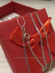 Цепочка двойное плетение серебро 925 пробы родирование