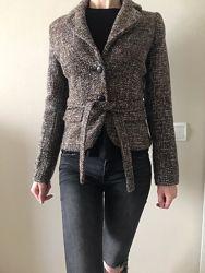Пиджак женский коричневый