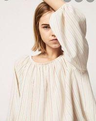 Шикарная объёмная блузка блуза рубашка Massimo Dutti
