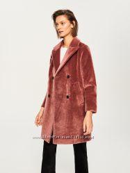 Пальто цвета пыльная роза Reserved