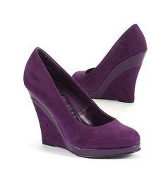 Фиолетовые туфли на танкетке new look, мой пролет
