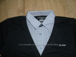Рубашка обманка для подростка р. 128-170см