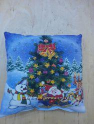 подушка с собакой -отличный подарок к новому году