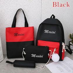 Рюкзак школьный для девочки4предмета с меховым помпоном