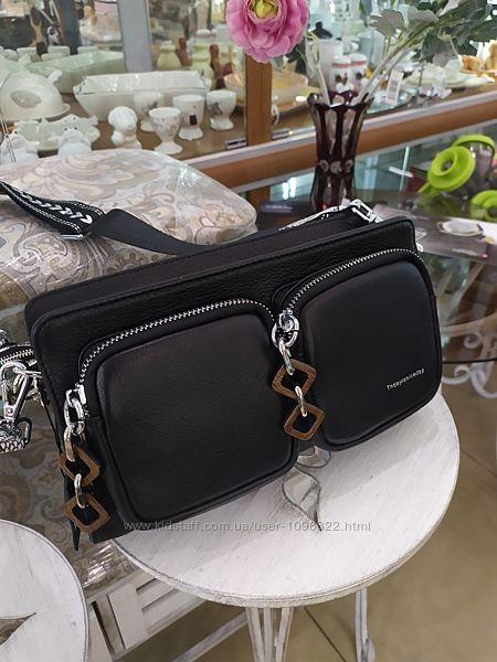 Сумка кожаная, маленькая сумка -формат кросс боди.