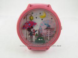 Часы для девочек Лунная ночь с объемным украшением