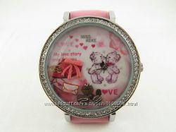 Часы для девочек Любовь с объемным украшением