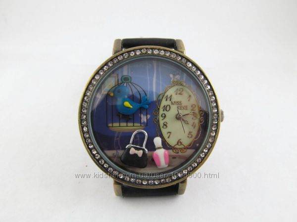 Часы для девочек Ночь с объемным украшением