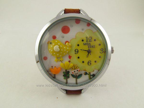 Часы для девочек Птенчик с объемным украшением