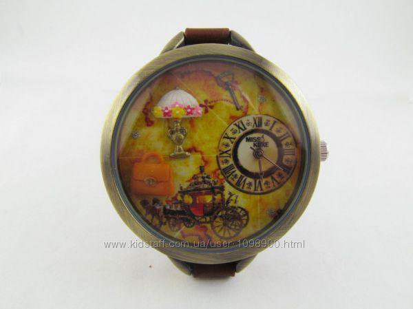 Часы для девочек Ретро с объемным украшением