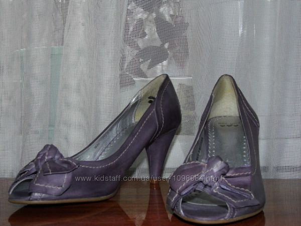 Кожаные туфли на каблуке - per una - 37. 5стелька 2424, 5 см-macedonia