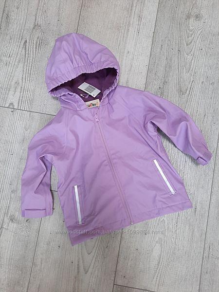Дождевик куртка kuniboo 86/92 см на флисовой подкладке, грязепруф, сирень
