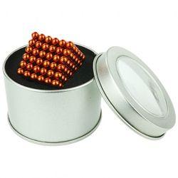 Неокуб Оранжевый 5 мм 216 шариков в коробочке  запасные шарики в подарок