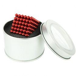 Неокуб Красный 5 мм 216 шариков в коробочке  запасные шарики в подарок