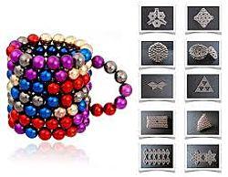Запасные шарики к Неокубу. 5 мм радуга никель разноцветный серебро