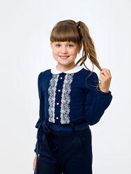 Школьные блузы для девочек 6-14 лет