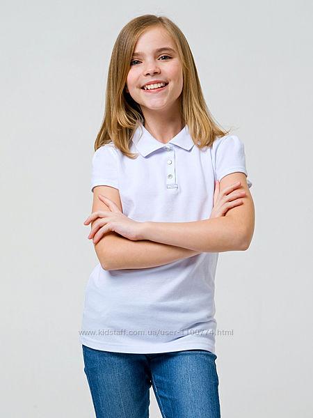 Футболки поло с коротким рукавом для девочки ТМ Смил