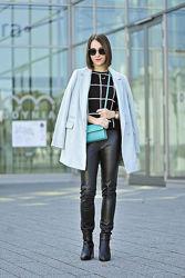 Актуальное и стильное мятное ворсистое пальто New Look