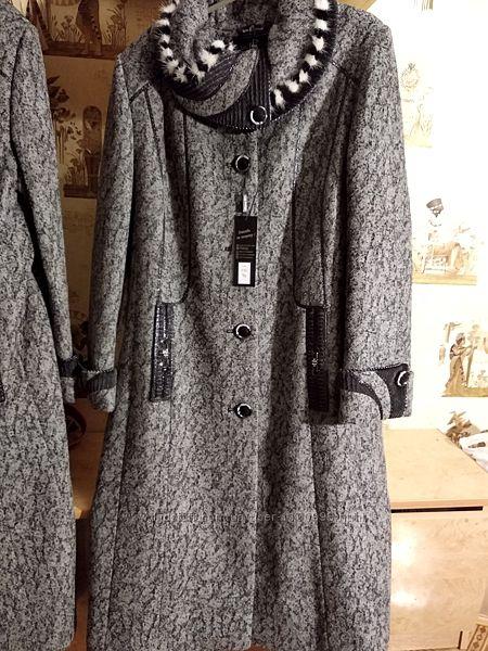 Женское зимнее пальто, шерстяное 52 и 56 размеры